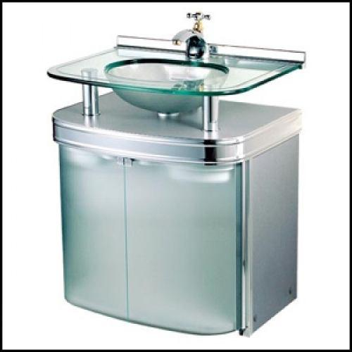 Gabinete de Banheiro ref 961  Crismetal  Raul Veiga -> Pia De Vidro Para Banheiro Cris Metal